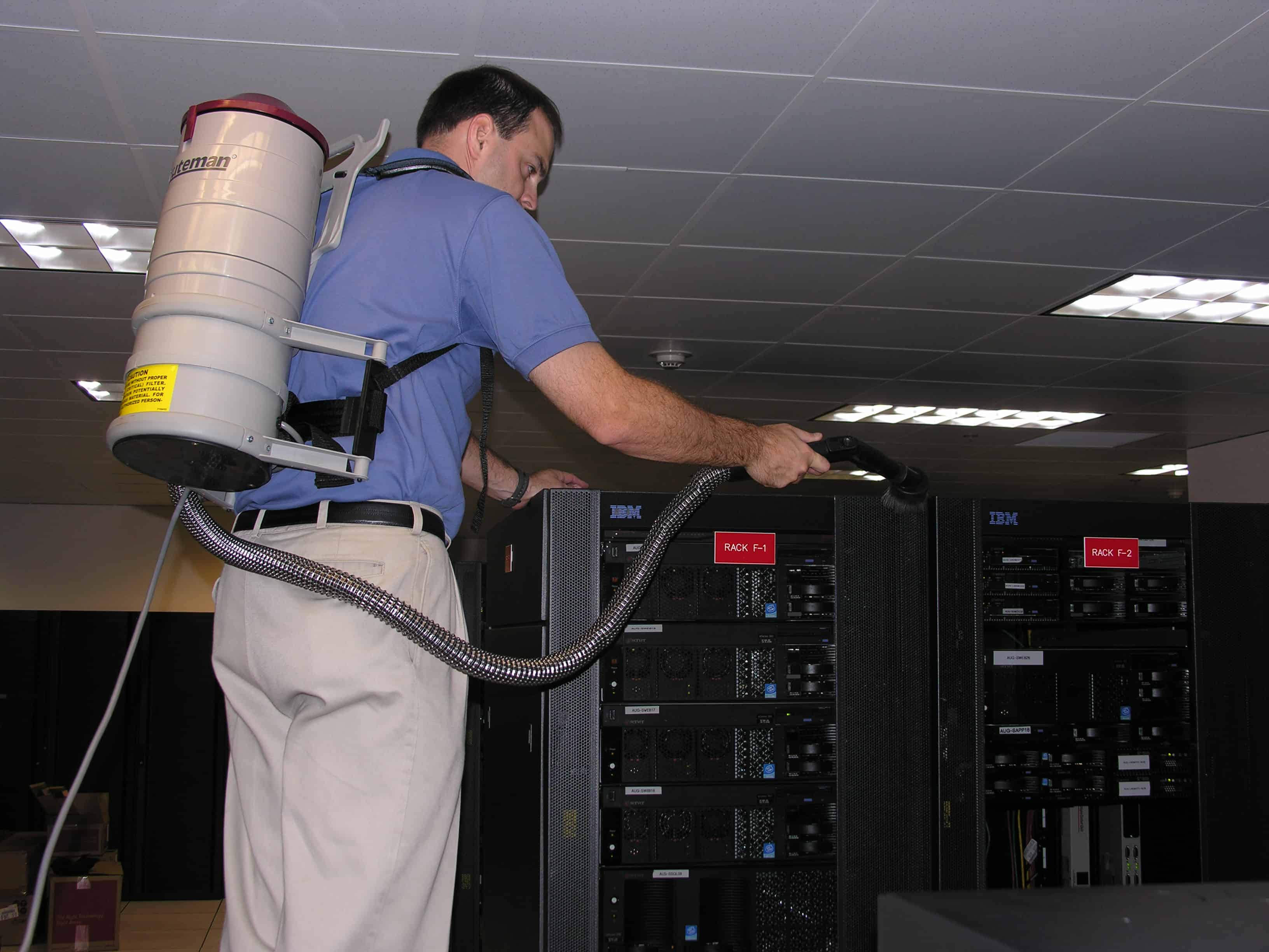 Data center cleaning - overhead